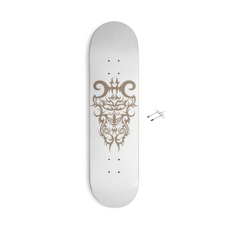 Rocain Logo Accessories With Hanging Hardware Skateboard by Rocain's Artist Shop