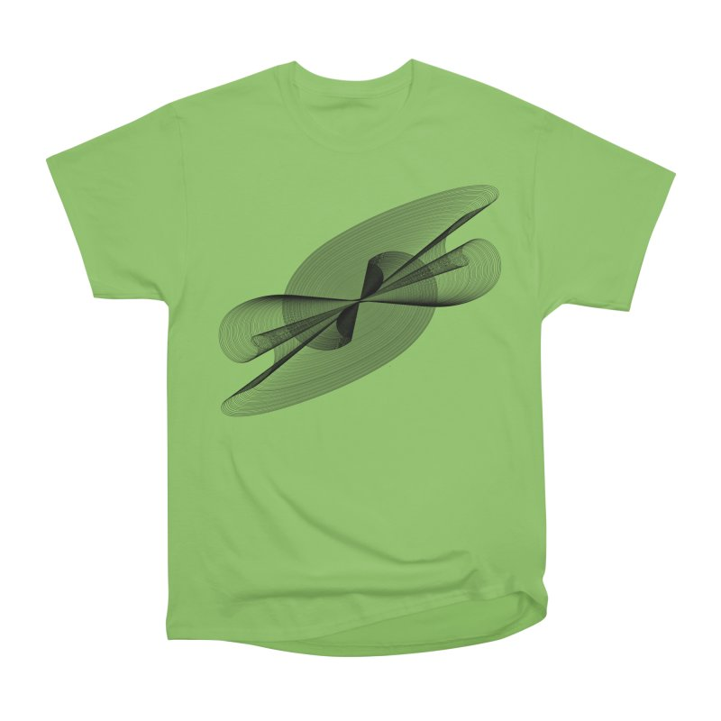 Radiated French Curve Men's Heavyweight T-Shirt by Rocain's Artist Shop