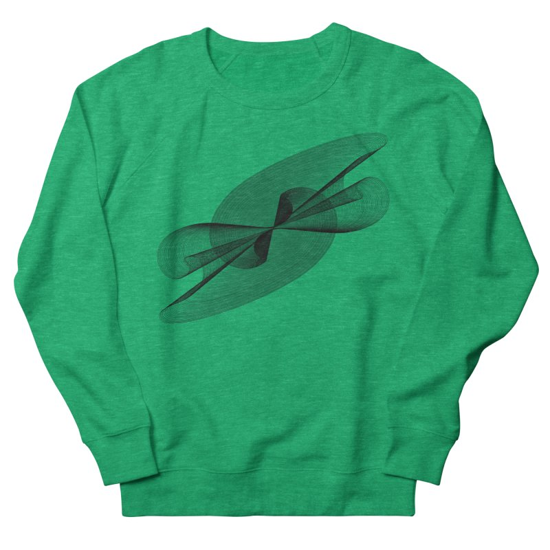 Radiated French Curve Women's French Terry Sweatshirt by Rocain's Artist Shop
