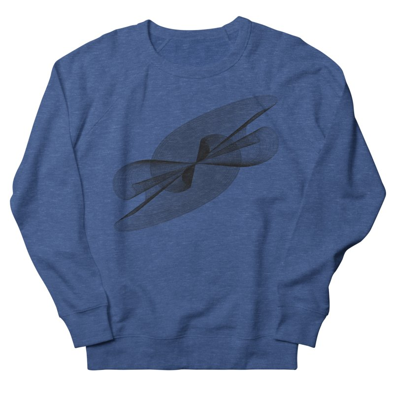Radiated French Curve Men's French Terry Sweatshirt by Rocain's Artist Shop