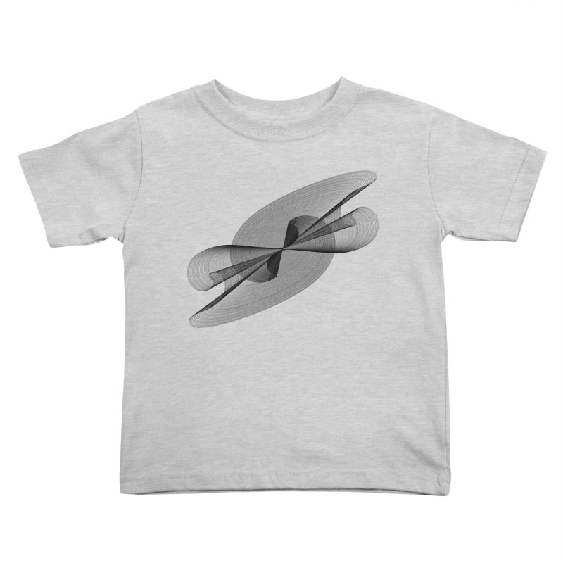 Radiated French Curve Kids Toddler T-Shirt by Rocain's Artist Shop