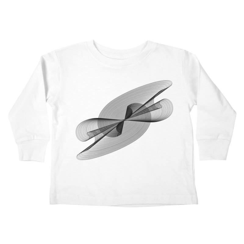 Radiated French Curve Kids Toddler Longsleeve T-Shirt by Rocain's Artist Shop
