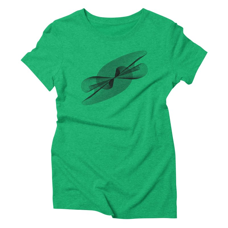 Radiated French Curve Women's Triblend T-Shirt by Rocain's Artist Shop