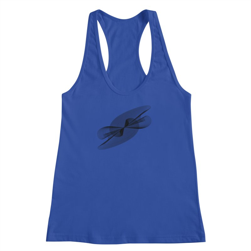 Radiated French Curve Women's Racerback Tank by Rocain's Artist Shop