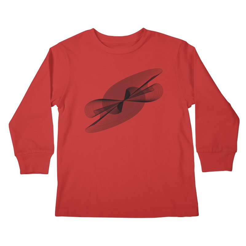 Radiated French Curve Kids Longsleeve T-Shirt by Rocain's Artist Shop