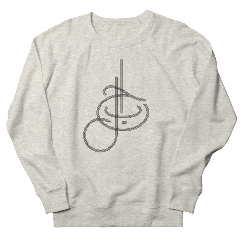 Love Arabic Calligraphy - 1 Women's French Terry Sweatshirt by Rocain's Artist Shop