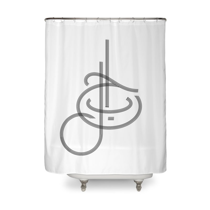 Love Arabic Calligraphy - 1 Home Shower Curtain by Rocain's Artist Shop