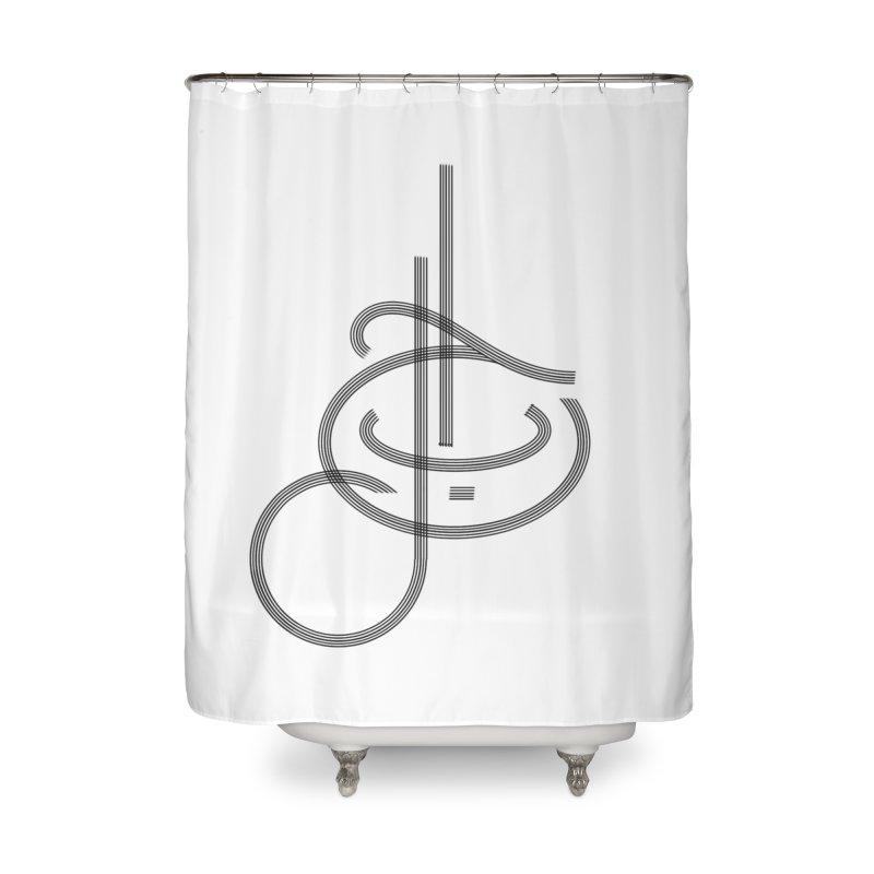 Love Arabic Calligraphy - 1 Home Shower Curtain by Rocain's Artist Shop