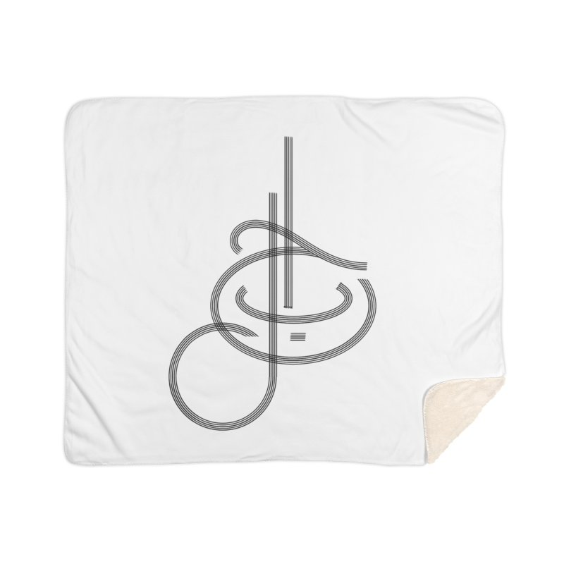 Love Arabic Calligraphy - 1 Home Sherpa Blanket Blanket by Rocain's Artist Shop