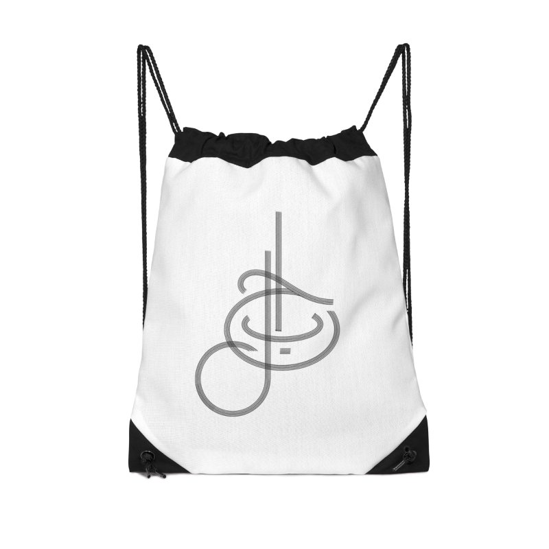 Love Arabic Calligraphy - 1 Accessories Drawstring Bag Bag by Rocain's Artist Shop