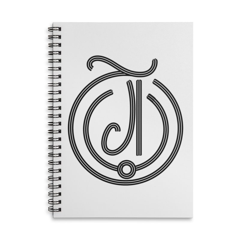 Love Arabic Calligraphy - 3 Accessories Lined Spiral Notebook by Rocain's Artist Shop