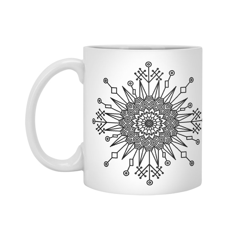 Mandala 111 Accessories Standard Mug by Rocain's Artist Shop