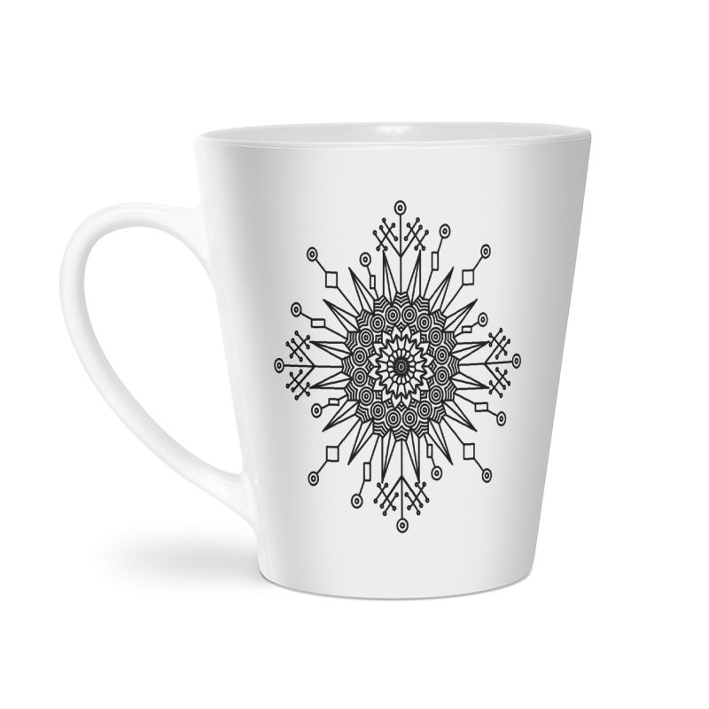 Mandala 111 Accessories Latte Mug by Rocain's Artist Shop