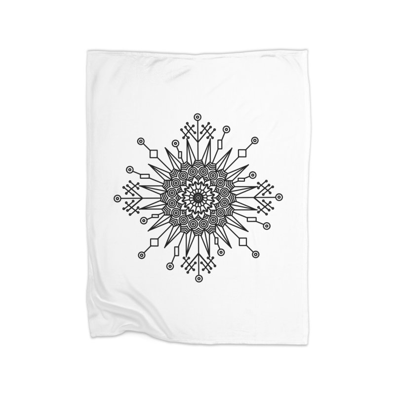 Mandala 111 Home Fleece Blanket Blanket by Rocain's Artist Shop