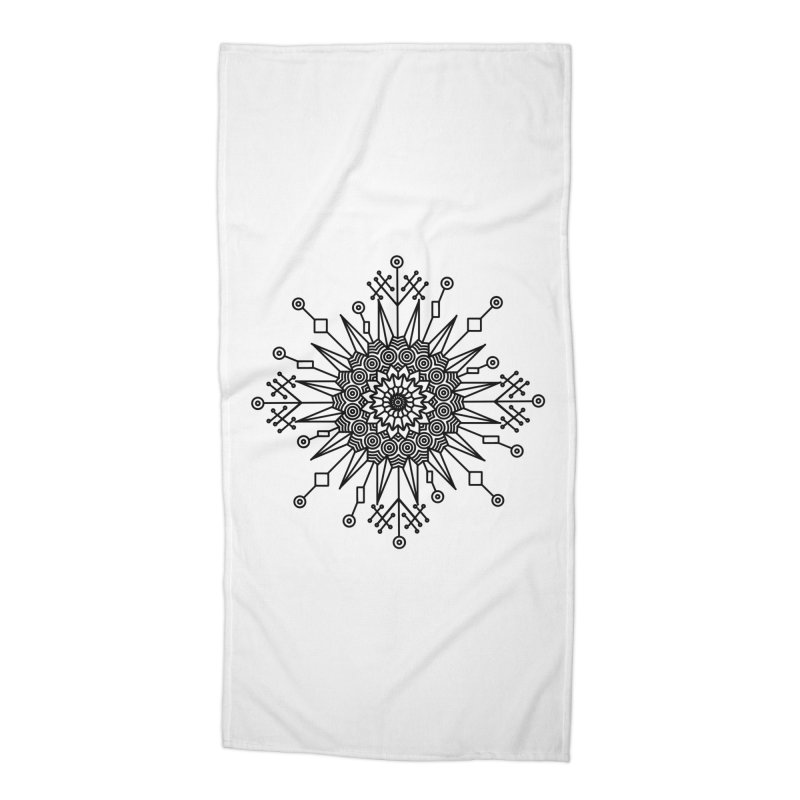 Mandala 111 Accessories Beach Towel by Rocain's Artist Shop