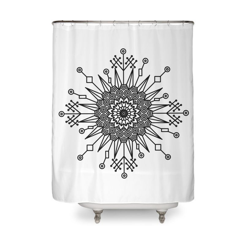 Mandala 111 Home Shower Curtain by Rocain's Artist Shop