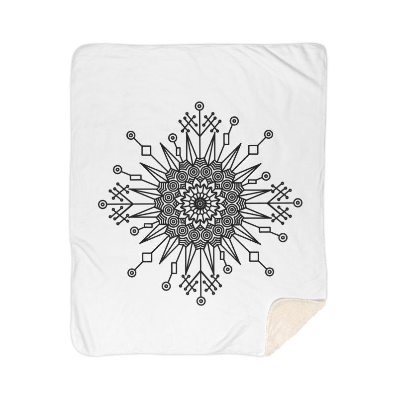 Mandala 111 Home Sherpa Blanket Blanket by Rocain's Artist Shop