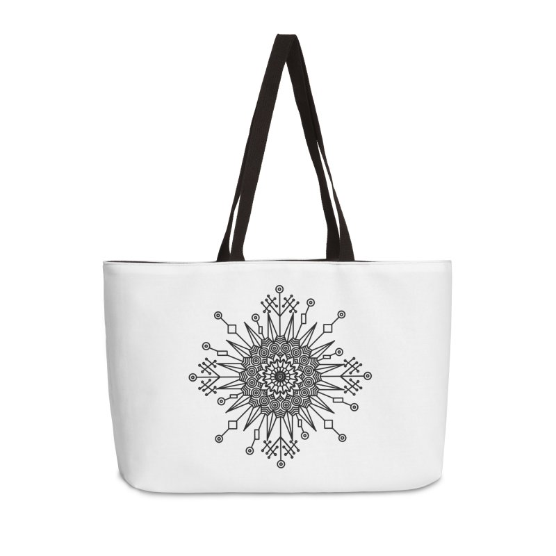 Mandala 111 Accessories Weekender Bag Bag by Rocain's Artist Shop