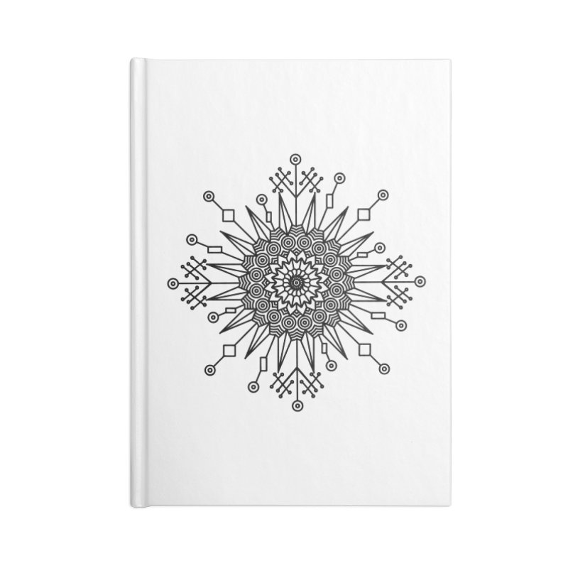 Mandala 111 Accessories Lined Journal Notebook by Rocain's Artist Shop