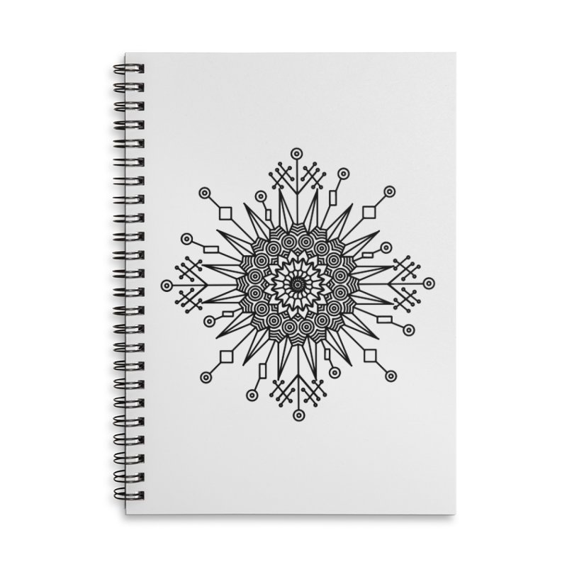 Mandala 111 Accessories Lined Spiral Notebook by Rocain's Artist Shop