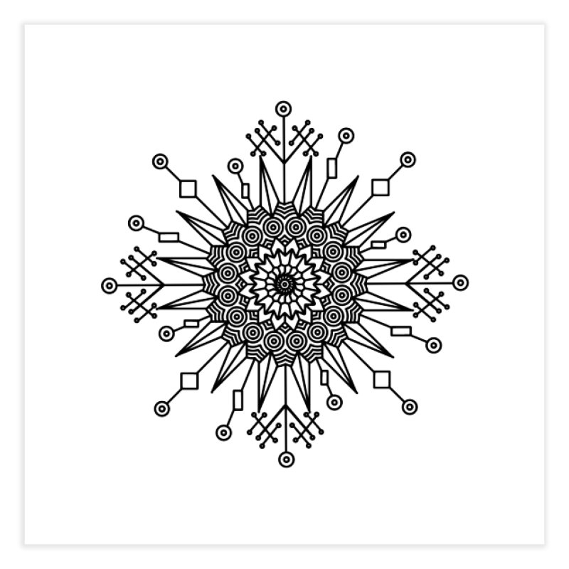 Mandala 111 Home Fine Art Print by Rocain's Artist Shop