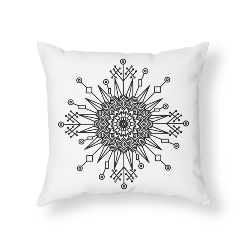 Mandala 111 Home Throw Pillow by Rocain's Artist Shop