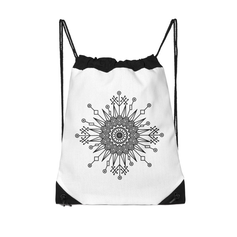 Mandala 111 Accessories Drawstring Bag Bag by Rocain's Artist Shop