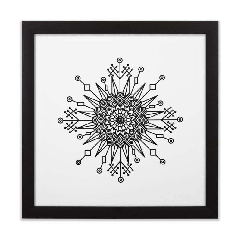 Mandala 111 Home Framed Fine Art Print by Rocain's Artist Shop