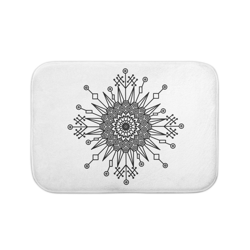 Mandala 111 Home Bath Mat by Rocain's Artist Shop