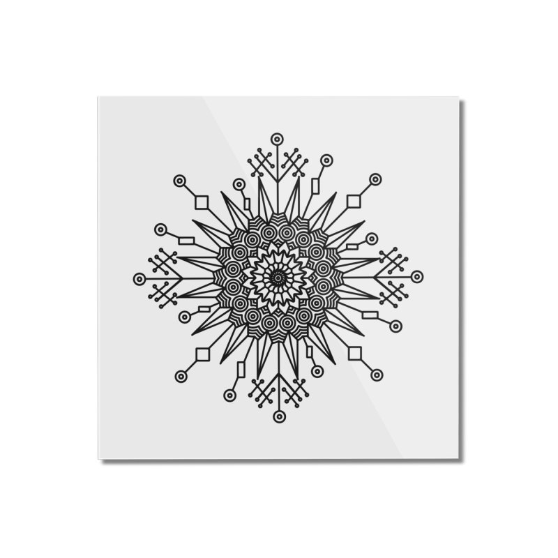 Mandala 111 Home Mounted Acrylic Print by Rocain's Artist Shop