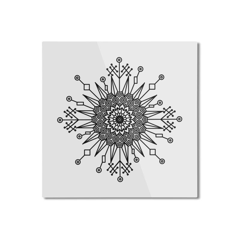 Mandala 111 Home Mounted Aluminum Print by Rocain's Artist Shop