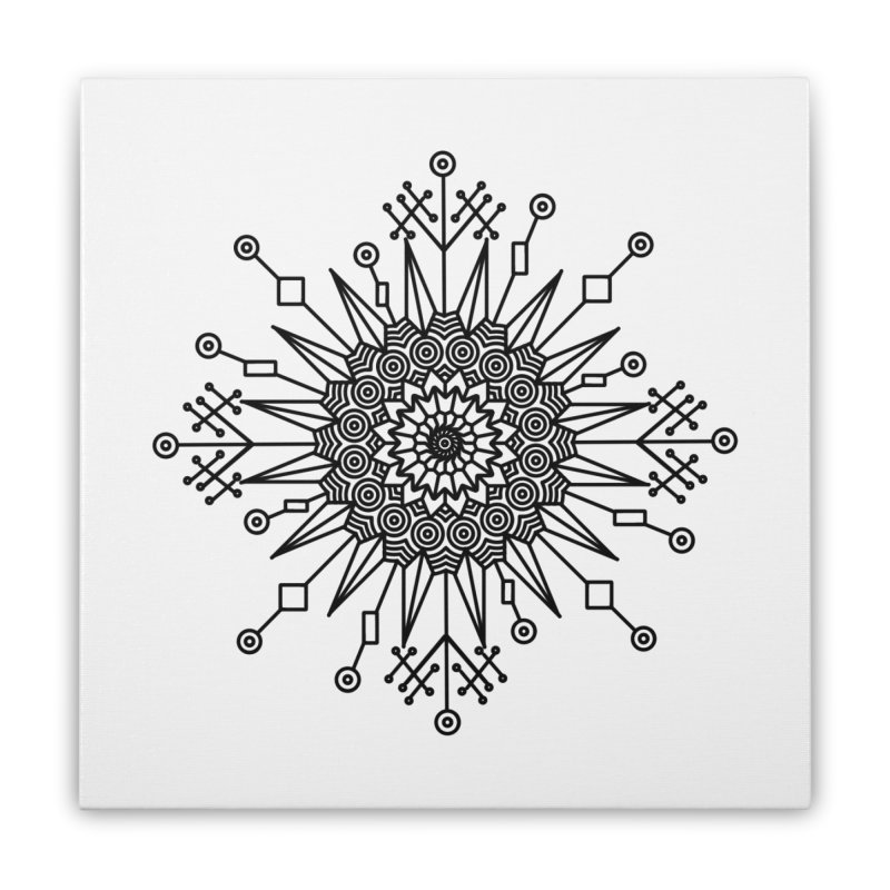 Mandala 111 Home Stretched Canvas by Rocain's Artist Shop