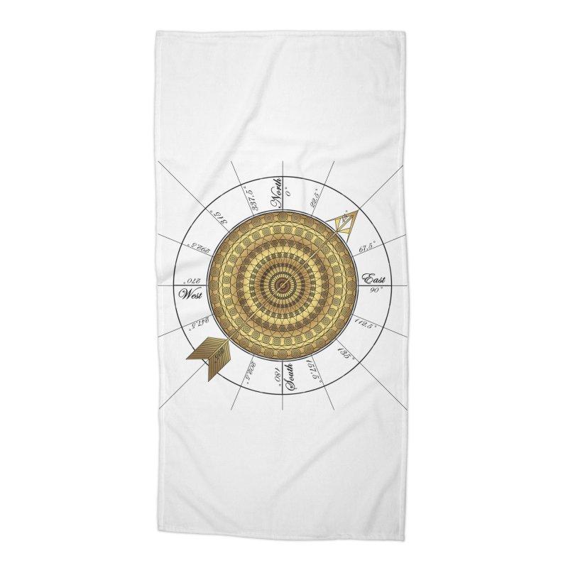 Compass Accessories Beach Towel by Rocain's Artist Shop