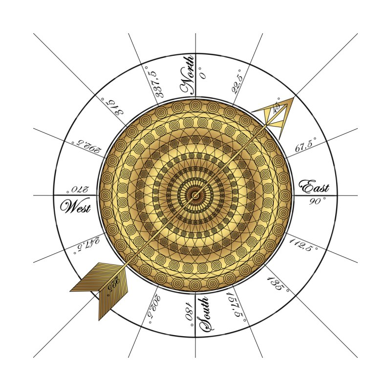 Compass Home Mounted Aluminum Print by Rocain's Artist Shop