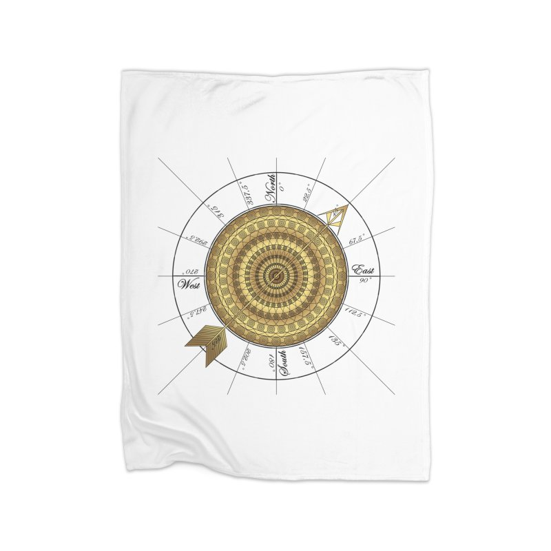 Compass Home Fleece Blanket Blanket by Rocain's Artist Shop