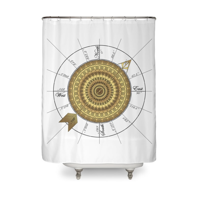 Compass Home Shower Curtain by Rocain's Artist Shop