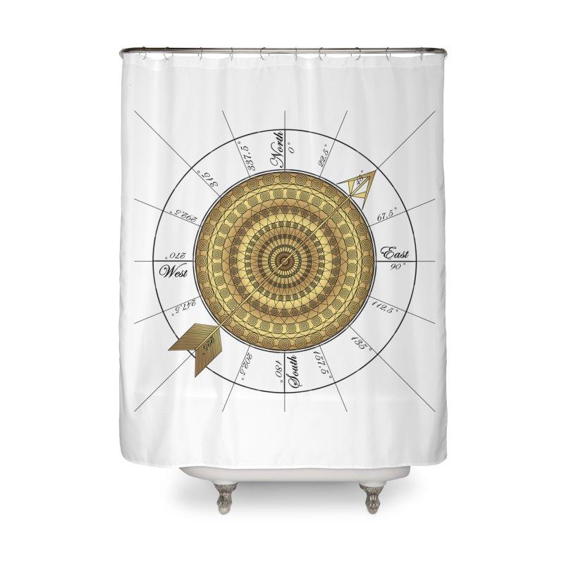Compass Home Shower Curtain by Rocain's Artist Shop