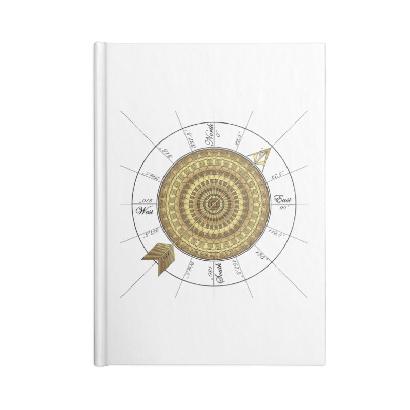 Compass Accessories Lined Journal Notebook by Rocain's Artist Shop
