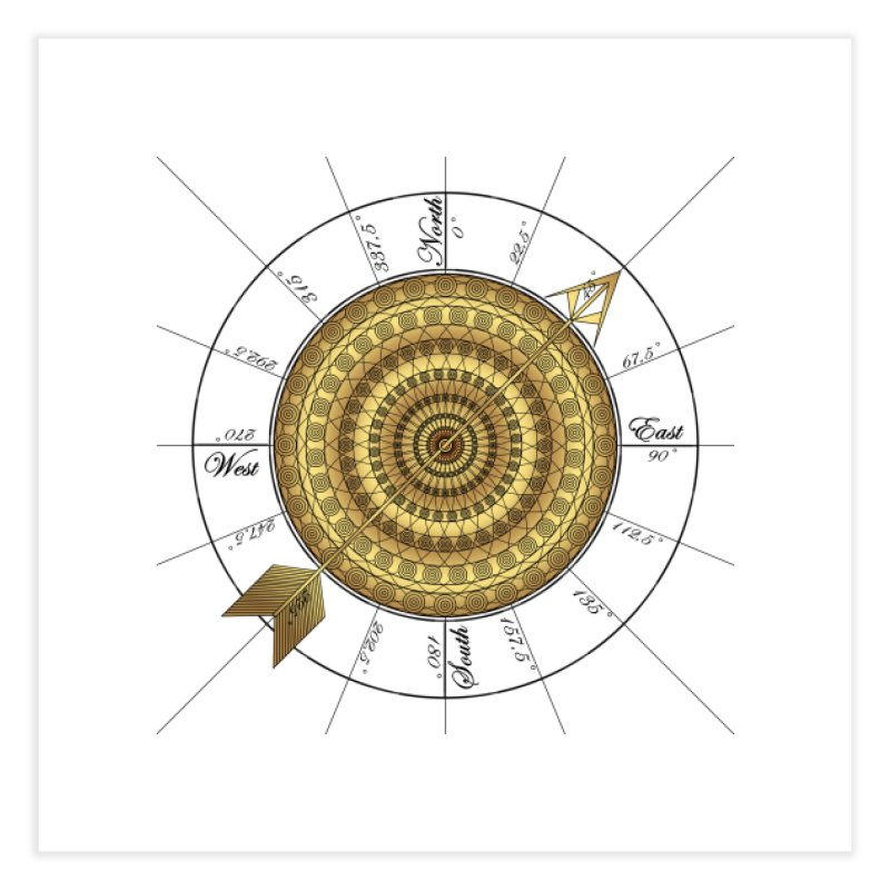 Compass Home Fine Art Print by Rocain's Artist Shop
