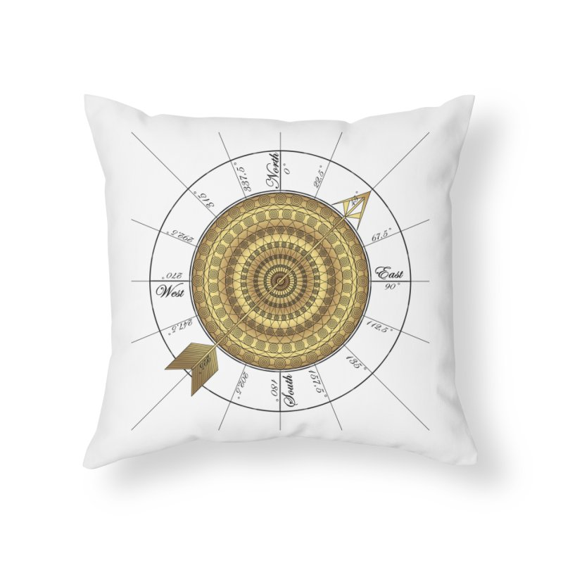 Compass Home Throw Pillow by Rocain's Artist Shop
