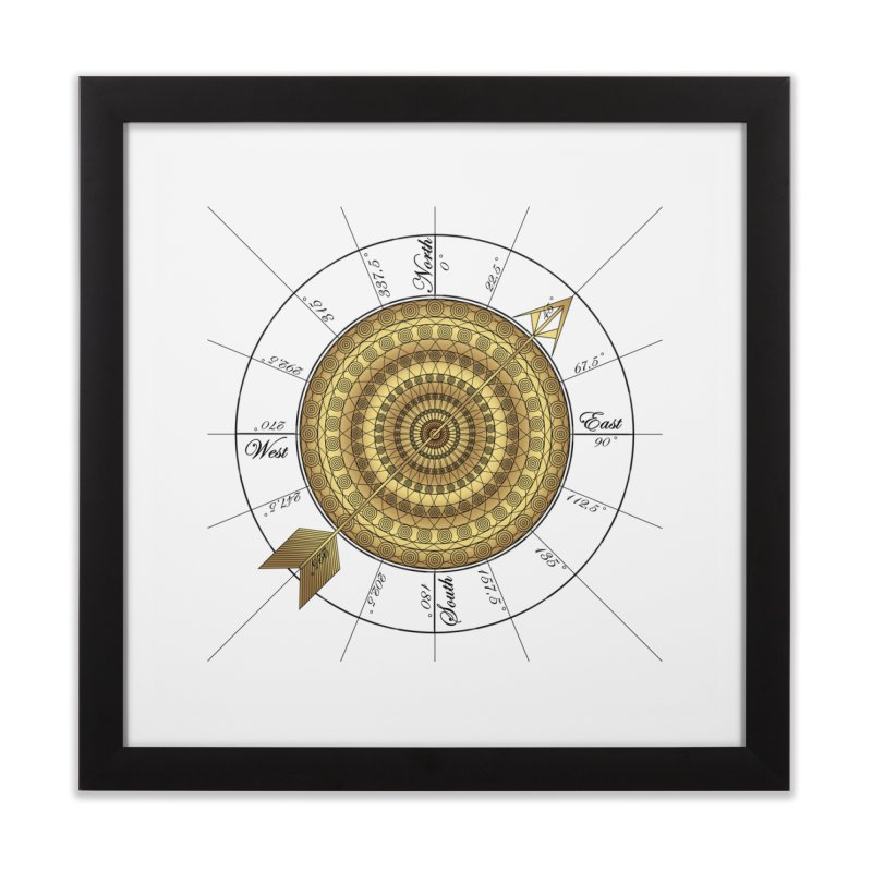Compass Home Framed Fine Art Print by Rocain's Artist Shop