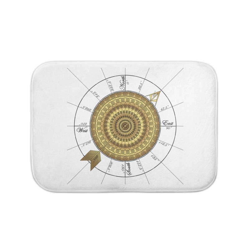 Compass Home Bath Mat by Rocain's Artist Shop