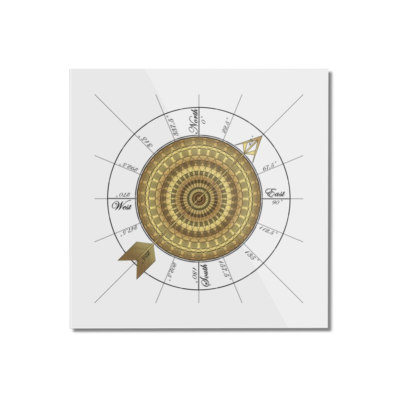 Compass Home Mounted Acrylic Print by Rocain's Artist Shop