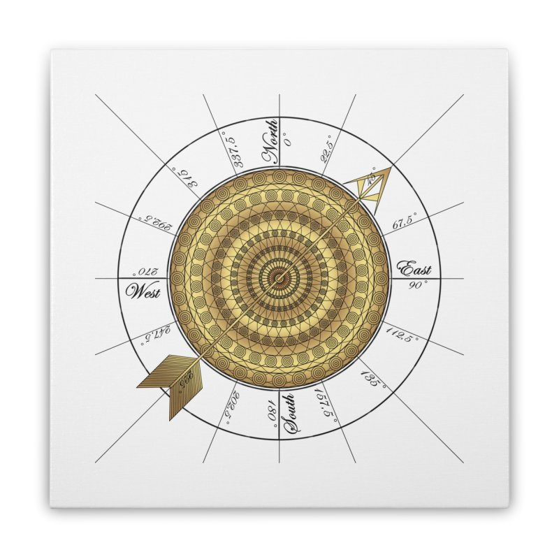 Compass Home Stretched Canvas by Rocain's Artist Shop