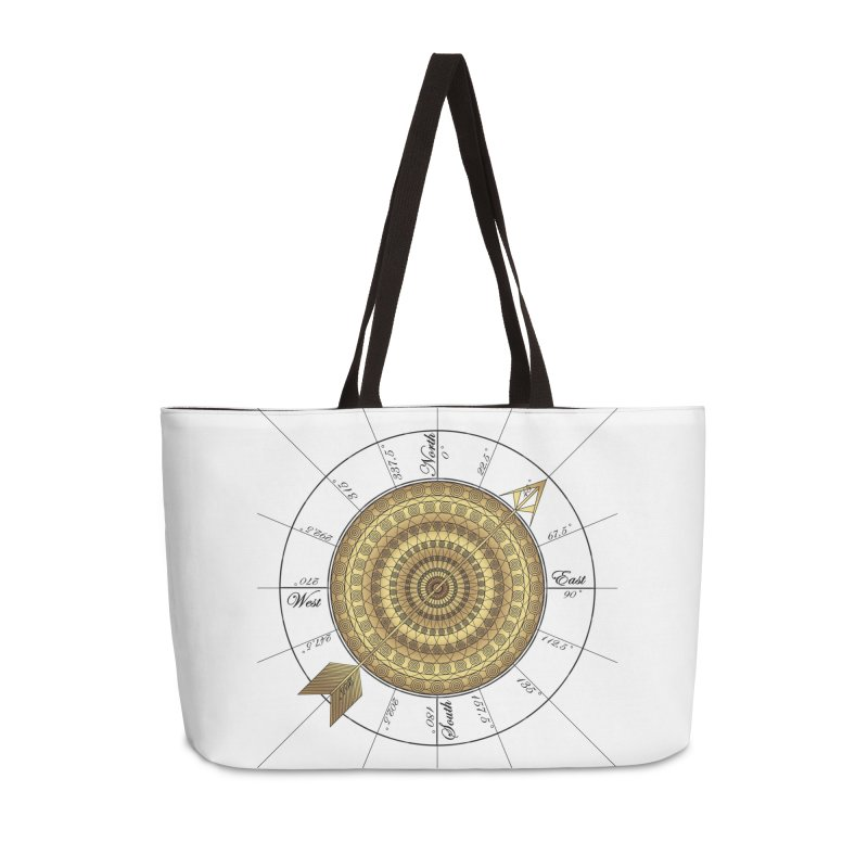 Compass Accessories Weekender Bag Bag by Rocain's Artist Shop
