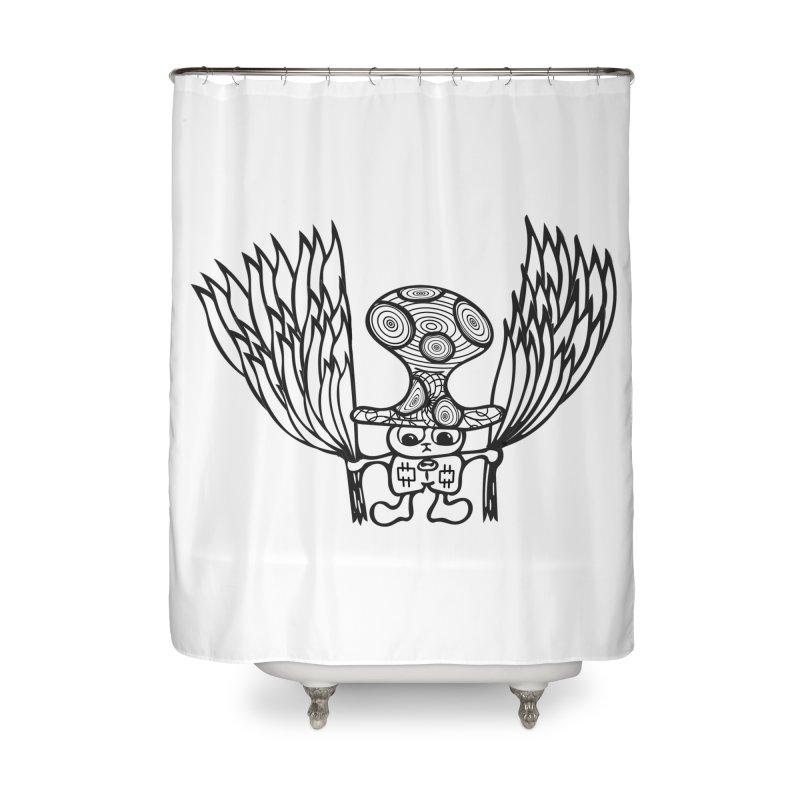 Shroomy Home Shower Curtain by Rocain's Artist Shop