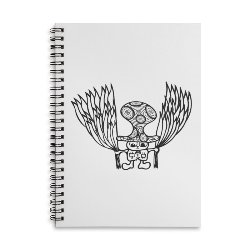 Shroomy Accessories Lined Spiral Notebook by Rocain's Artist Shop