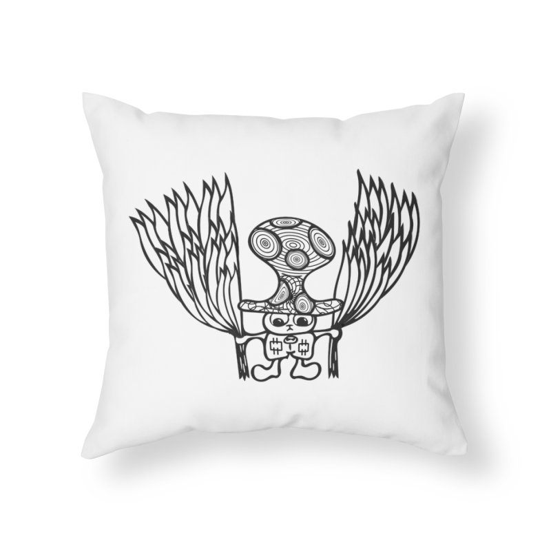 Shroomy Home Throw Pillow by Rocain's Artist Shop