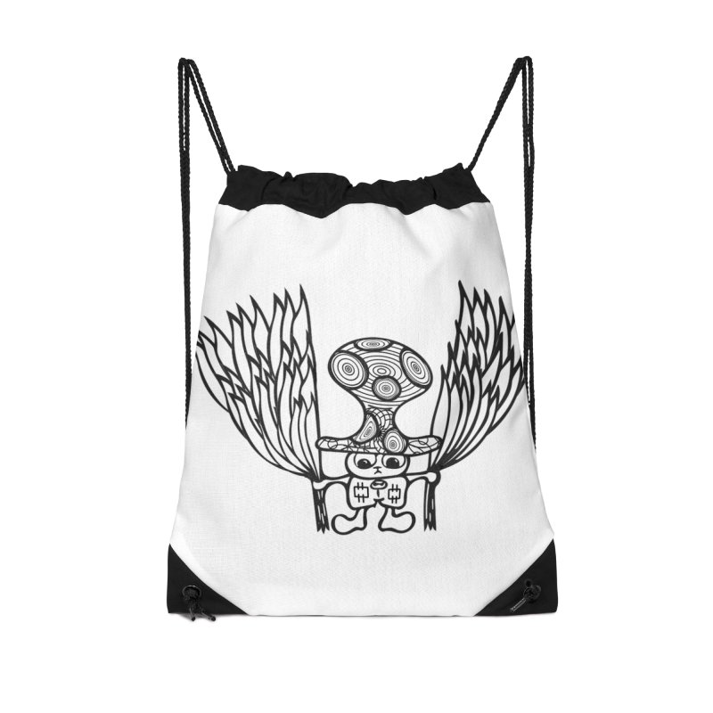 Shroomy Accessories Drawstring Bag Bag by Rocain's Artist Shop