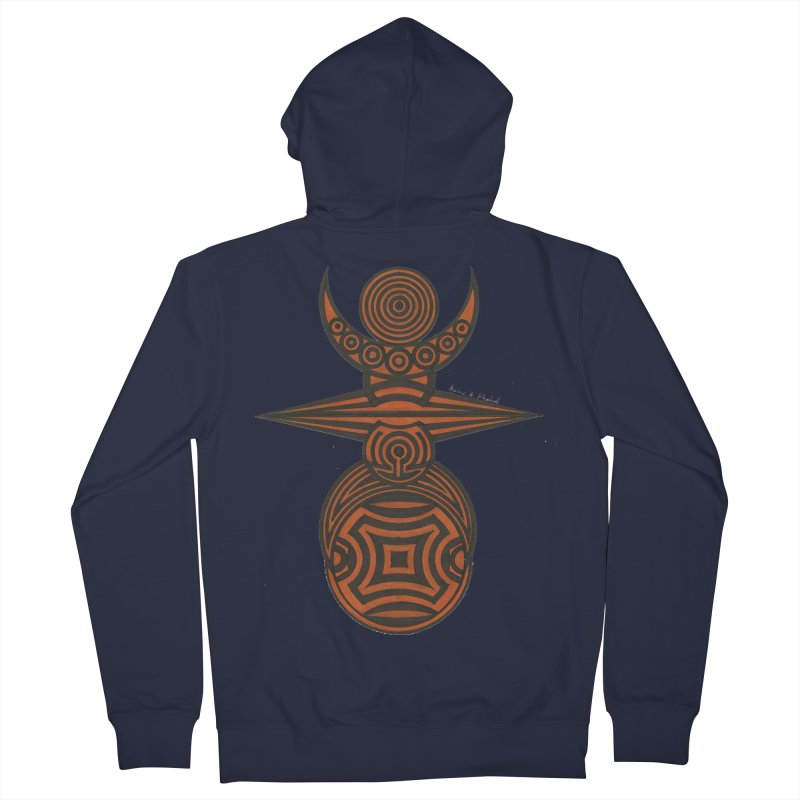 Totem Men's French Terry Zip-Up Hoody by Rocain's Artist Shop
